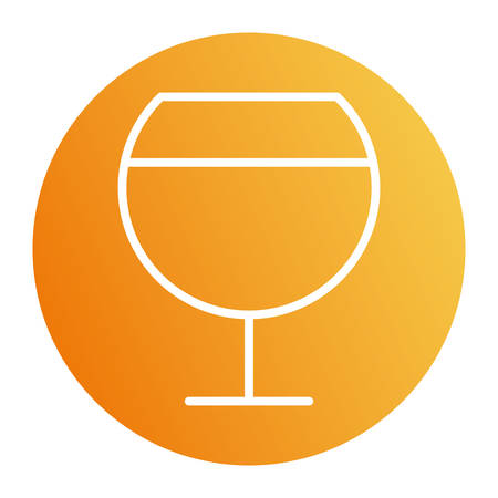 wine cup block style icon design, Cook kitchen Eat food restaurant home menu dinner lunch cooking and meal theme Vector illustration