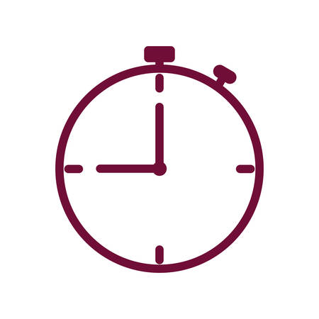 Chronometer line style icon design, Time tool second sport stopwatch deadline measure and countdown theme Vector illustration
