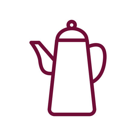 tea kettle line style icon design, Cook kitchen Eat food restaurant home menu dinner lunch cooking and meal theme Vector illustration