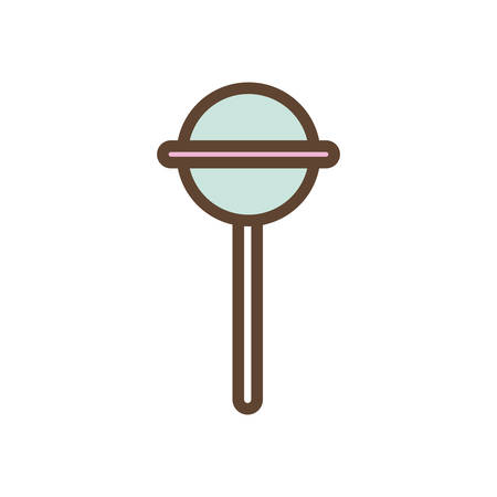 Sweet candy line and fill style icon design, dessert food delicious sugar snack and tasty theme Vector illustration