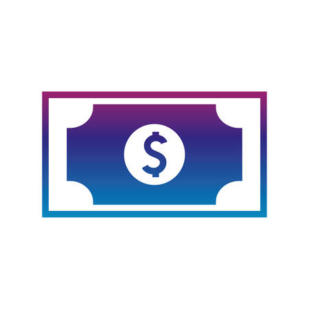 bill gradient line style icon of money financial item banking commerce market payment buy currency accounting and invest theme Vector illustration
