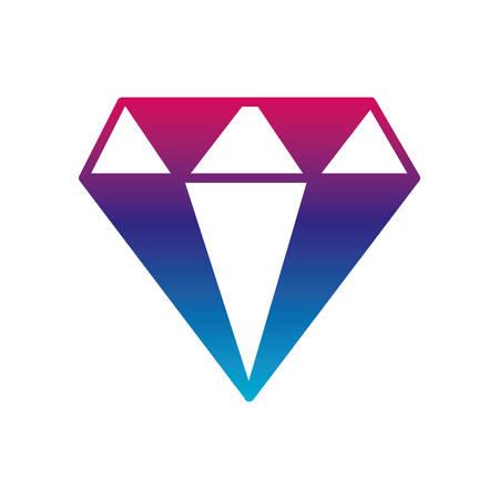 Diamond gradient line style icon design of Gem jewelry stone brilliant crystal precious treasure and luxury theme Vector illustration