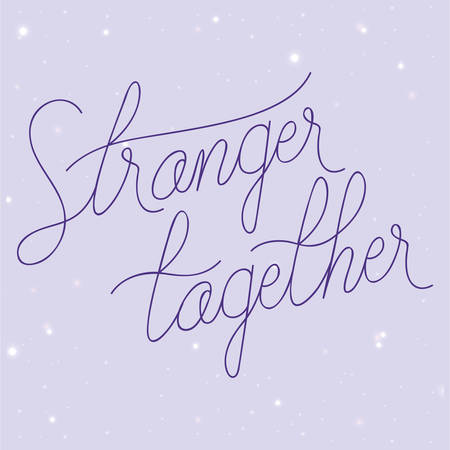 Stranger together design, World cancer day february four awareness campaign disease prevention and foundation theme Vector illustration