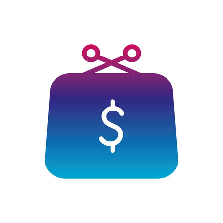 wallet gradient line style icon of money financial item banking commerce market payment buy currency accounting and invest theme Vector illustration