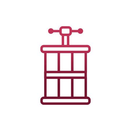 Wine barrel design, Winery alcohol drink beverage restaurant and celebration theme Vector illustration