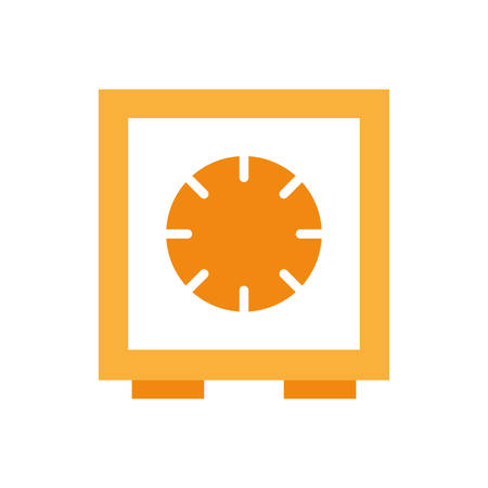 strongbox flat style icon of money financial item banking commerce market payment buy currency accounting and invest theme Vector illustration