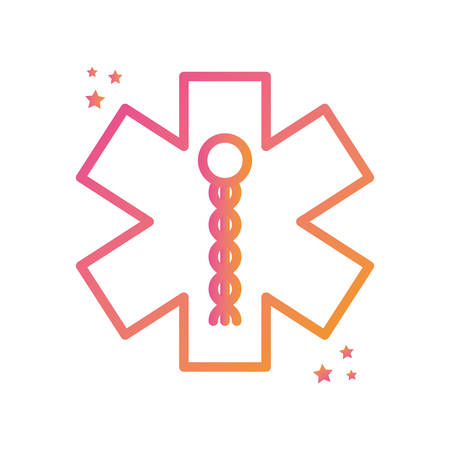 symbol gradient style icon design of Medical care health emergency aid exam clinic and patient theme Vector illustration