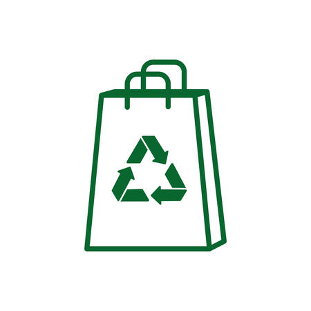 Recycle shopping bag design, Ecology eco save green natural environment protection and care theme Vector illustration Illustration