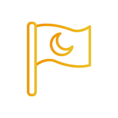 Ramadan moon flag gradient style icon design, Islamic muslim religion culture belief religious faith god spiritual meditation and traditional theme Vector illustration