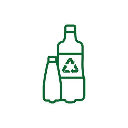 Recycle plastic bottle design, Ecology eco save green natural environment protection and care theme Vector illustration Illustration