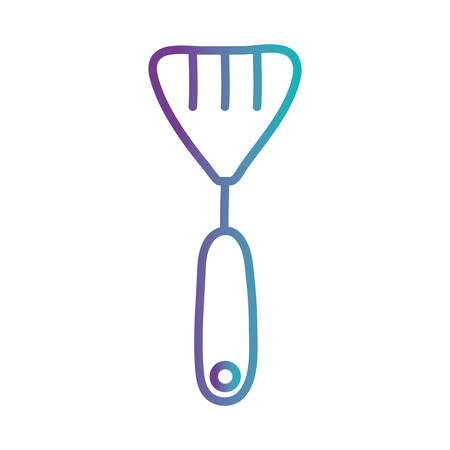 spatula gradient style icon design, Cook kitchen Eat food restaurant home menu dinner lunch cooking and meal theme Vector illustration