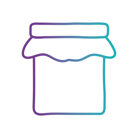 mason jar gradient style icon design, Cook kitchen Eat food restaurant home menu dinner lunch cooking and meal theme Vector illustration