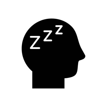 avatar head with fatigue symbol silhouette style icon design of Medical care hygiene health emergency aid exam clinic and patient theme Vector illustration Ilustracja