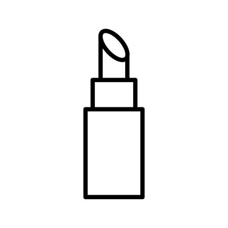 lipstick line style icon design, Make up cosmetic fashion style glamour skin facial and glamour theme Vector illustration