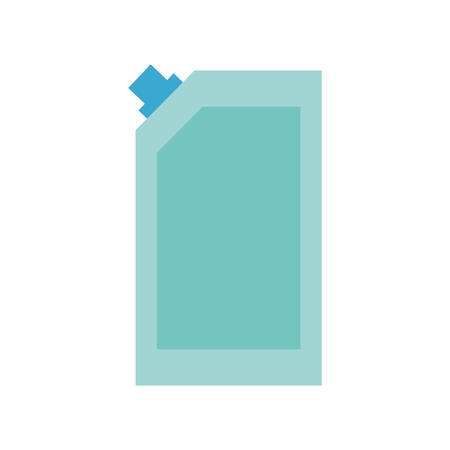 detergent bottle flat style icon design, Cleaning service wash home hygiene equipment domestic interior housework and housekeeping theme Vector illustration Illustration
