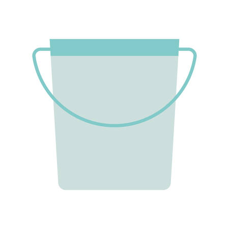 bucket flat style icon design, Cleaning service wash home hygiene equipment domestic interior housework and housekeeping theme Vector illustration