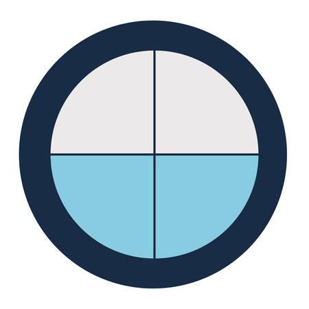 Striped loading circle block style icon 向量圖像