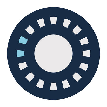 Rectangles loading circle block style icon