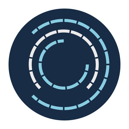 Lines loading circle block style icon design