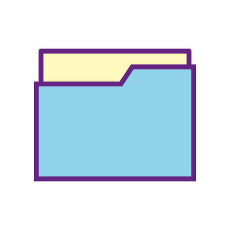 File line and fill style icon design, Document data archive storage organize business office and information theme Vector illustration  イラスト・ベクター素材