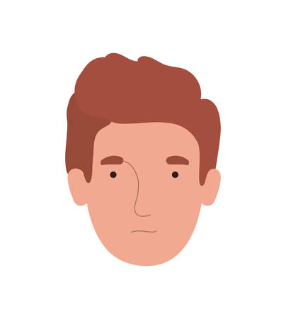 Avatar man head design, Boy male person people human social media and portrait theme Vector illustration Ilustrace