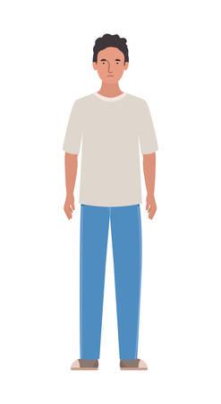 Avatar man design, Boy male person people human social media and portrait theme Vector illustration