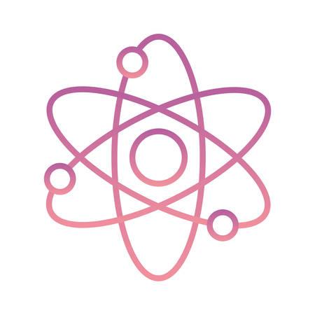 Conception d'icône de style dégradé d'atome, micro-élément de molécule de particule de technologie moléculaire de chimie scientifique et thème de puissance Illustration vectorielle
