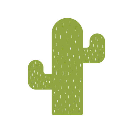 Cactus flat style icon design, Plant desert nature tropical summer mexico and western theme Vector illustration