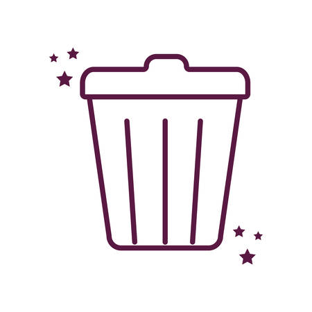 Trash line style icon design, Waste garbage ecology save green natural environment protection and care theme Vector illustration