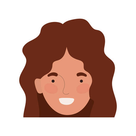 Avatar woman head design, Girl female person people human and social media theme Vector illustration