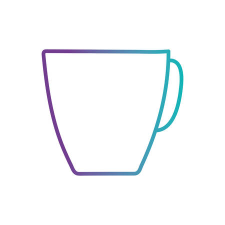 Tea or coffee mug gradient style icon design, Cook kitchen Eat food restaurant home menu dinner lunch cooking and meal theme Vector illustration