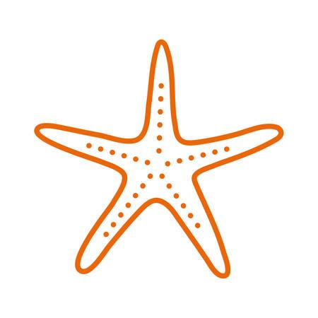 star line style icon design Sea life ecosystem fauna ocean underwater water nature marine tropical theme Vector illustration