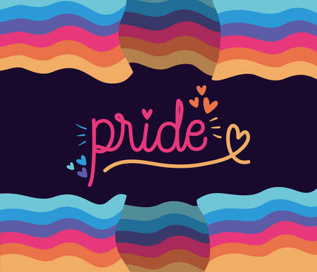 pride between lgtbi flag design, sexual orientation and identity theme Vector illustration