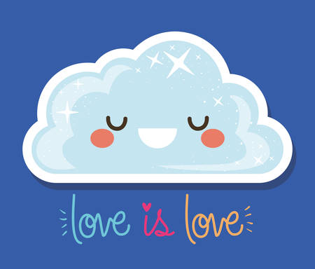 love is love and   cloud design,   sexual orientation and identity theme Vector illustration