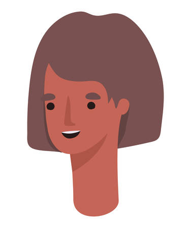 Avatar woman cartoon design, Girl female person people human and social media theme Vector illustration