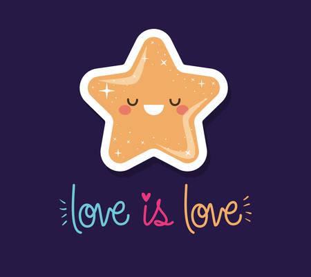 love is love   star design, lgtbi sexual orientation and identity theme Vector illustration Ilustrace