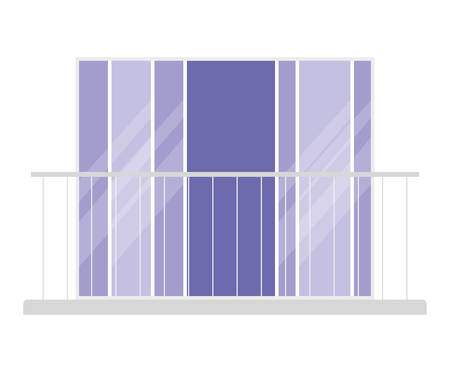 transparent window with balcony design, architecture home and house theme Vector illustration