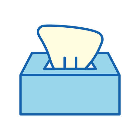 Tissues box line and fill style icon design, Hygiene wash health clean healthy bacteria bathroom and protection theme Vector illustration Vektoros illusztráció