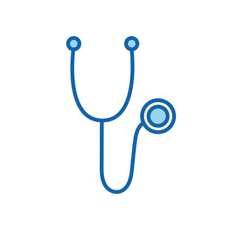 Stethoscope line and fill style icon, design of Medical care health emergency and clinic theme Vector illustration Stock fotó - 155007665