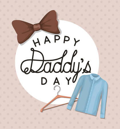 Best daddy ever and cloth design, Happy fathers day celebration and love theme Vector illustration