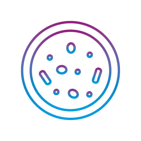 virus inside plate gradient line style icon design, Bacterium organism molecule and infection theme Vector illustration