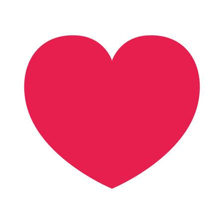Heart icon design of love passion and romantic theme Vector illustration Illustration