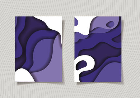 Purple waves backgrounds frames, Abstract texture art and wallpaper theme Vector illustration