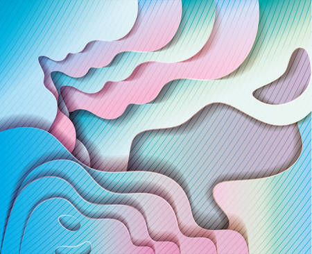 blue and pink waves background, Abstract texture art and wallpaper theme Vector illustration 免版税图像 - 147755047
