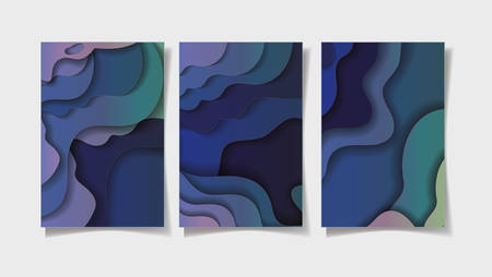 Blue waves backgrounds frames, Abstract texture art and wallpaper theme Vector illustration 免版税图像 - 147754716