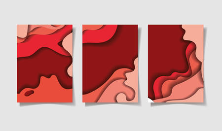 Red waves backgrounds frames, Abstract texture art and wallpaper theme Vector illustration 免版税图像 - 147756555
