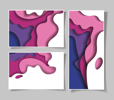 Purple waves backgrounds frames, Abstract texture art and wallpaper theme Vector illustration 免版税图像 - 147755823
