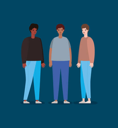 Men avatars design, Man boy male person and people theme Vector illustration Ilustrace