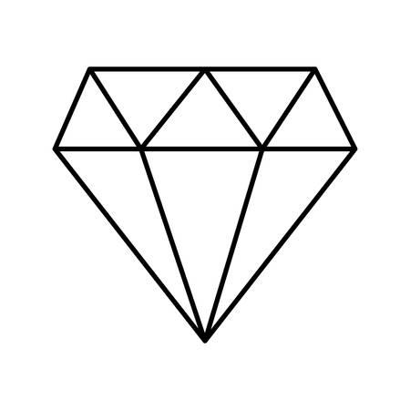 Diamond line style icon design of Gem jewelry stone brilliant crystal precious treasure and luxury theme Vector illustration