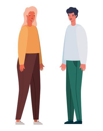 Woman and man avatar cartoon design, Person people and human theme Vector illustration Standard-Bild - 147772106